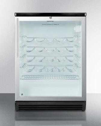 Summit  SWC6GBLHVADA Wine Cooler 26-50 Bottles Stainless Steel, Main Image