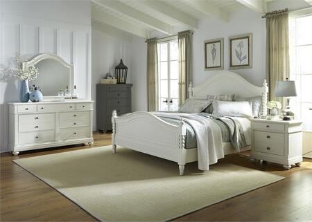 Liberty Furniture Harbor View II 631BRKPSDMN Bedroom Set White, Main Image