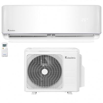 KSIV018-H219-S(W) KSIV Series Single Zone Ductless Mini Split Inverter Air Conditioner with 18000 BTU Cooling Capacity  Heat Pump and DC Inverter in
