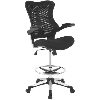 Modway Charge EEI2286BLK Office Stool , EEI 2286 BLK 1