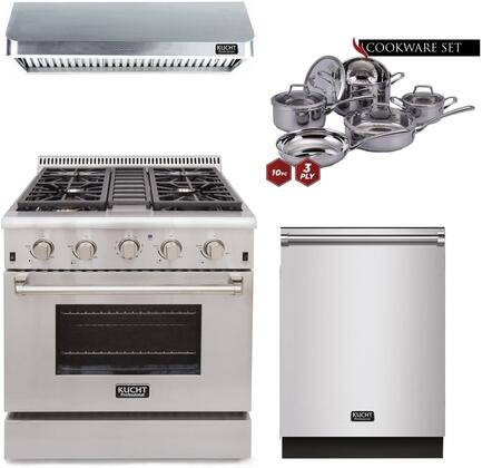 Kucht Professional 810579 Kitchen Appliance Package Stainless Steel, main image