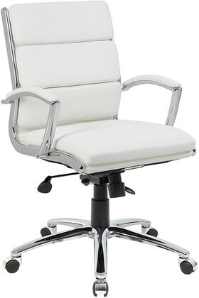 B9476-WT Executive Caressoftplus    Chair With Metal Chrome Finish  In Mid