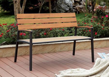 Furniture of America Isha CMBN1869A Patio Bench, CM BN1869A