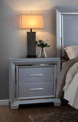Myco Furniture Luca LU735N Nightstand Silver, 1