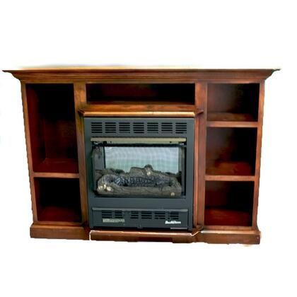 1127 Prestige Series NV 11272NATPRES-CHRY Mantel and Natural Gas Wood Stove Combo in