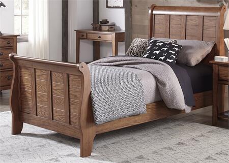 "Liberty Furniture Grandpa""s Cabin 175YBRFSL Bed Brown, Main Image"