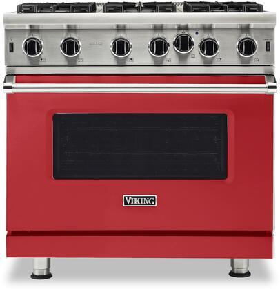 Viking 5 Series VGIC53626BSMLP Freestanding Gas Range Red, VGIC53626BSMLP Gas Type