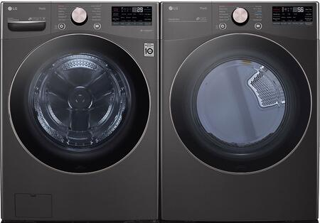 LG  1289252 Washer & Dryer Set Black, 1