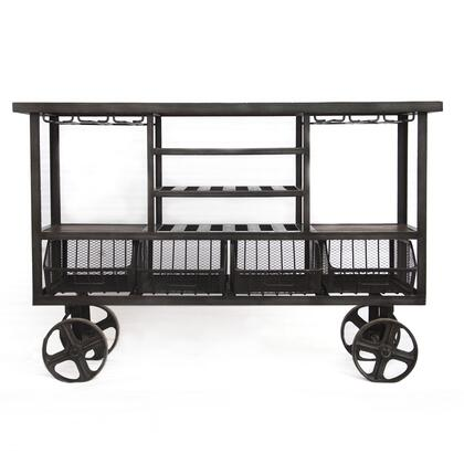 Paxton Collection ZWPXBCT60 Bar Cart in Brown