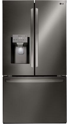 LG  LFXC22526D French Door Refrigerator Black Stainless Steel, Main Image