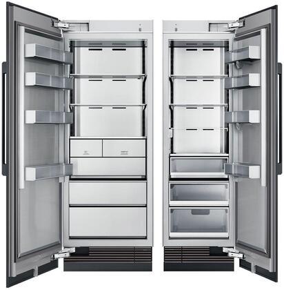 Dacor Modernist 872753 Column Refrigerator & Freezer Set Panel Ready, Custom Panels and Handles not Included
