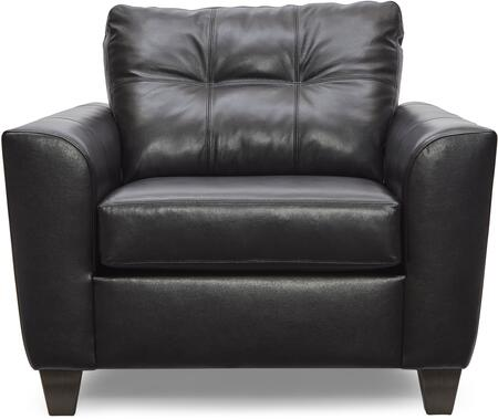 2024-01 SOFT TOUCH ONYX 46″ Chair 1/4 with Tufted Back Cushion and  Leather Upholstery in