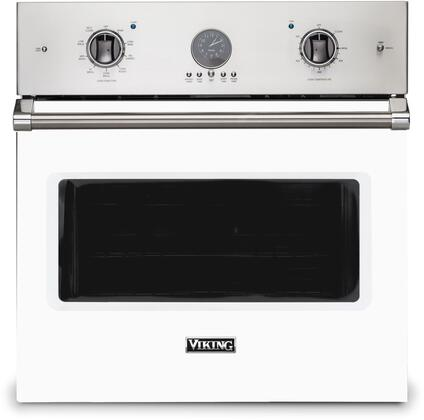 Viking 5 Series VSOE530WH Single Wall Oven White, Front view