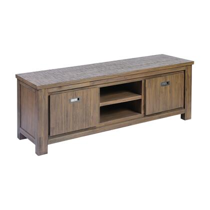17203 Review Media Unit  in Brown Stain  Grey