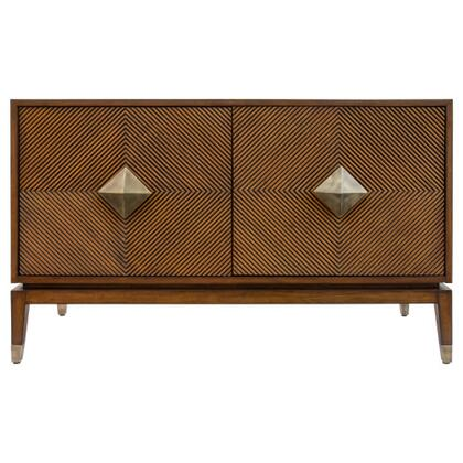 Diamond Collection 210022 Accra Cabinet in Brown/Black  Aged