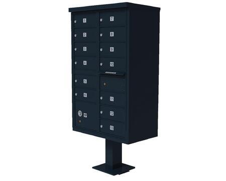 Qualarc CBU13BL Mailbox Accessories, CBU 13 BL
