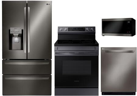 LG  862054 Kitchen Appliance Package Black Stainless Steel, Main Image