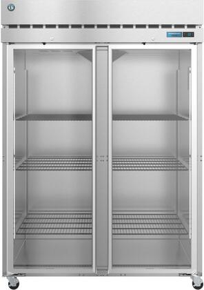 F2A-FG 55″ Steelheart Series Two Section Glass Full Door Reach-In Freezer with 50.37 cu. ft. Capacity  6 Adjustable Shelves  4″ Casters and LED