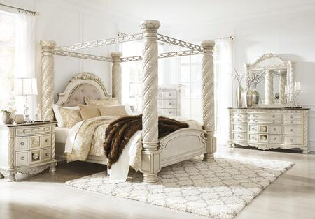 Signature Design by Ashley Cassimore B750CKCBDM2NC Bedroom Set Silver, Main Image