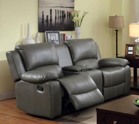 Furniture of America Sarles CM6326LV Loveseat Gray, Main Image