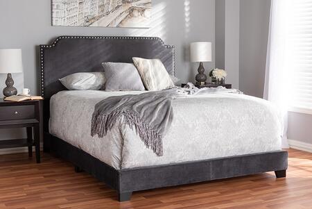 Baxton Studio Darcy DARCYGREYQUEEN Bed Gray, 8956 8957 8958 6