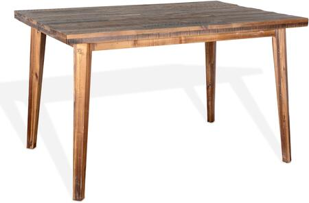 1095RA-36S Havana Counter Height Table with Solid Top  NO LEAF  in Rustic