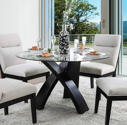 Furniture of America Jasmin CM3393RTTABLE Dining Room Table Black, CM3393RTTABLE Main Image