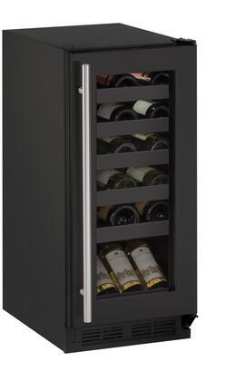U-Line 1000 U1215WCB00B Wine Cooler 25 Bottles and Under Black, Main Image
