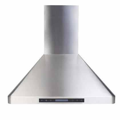 Verona  VEHOOD30CH Wall Mount Range Hood Stainless Steel, 30 inch wall mounted front view