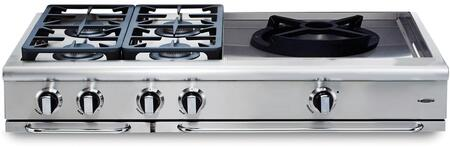Capital Precision GRT484WN Gas Cooktop Silver, Main Image