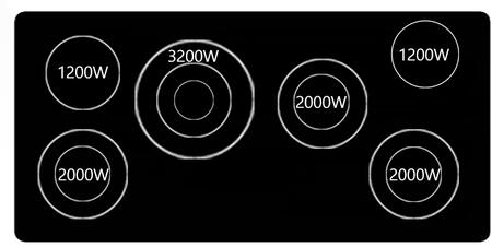 45 Inch Wide Built In Electric Cooktop