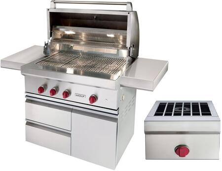 Wolf OGSBCART36 Natural Gas Grill Stainless Steel, OGCART36   Copy