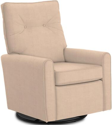 Phylicia Collection 4007-19708 Recliner with 360-Degrees Swivel Glider Metal Base  Removable Back  High Backrest  Zipper Access and Fabric Upholstery