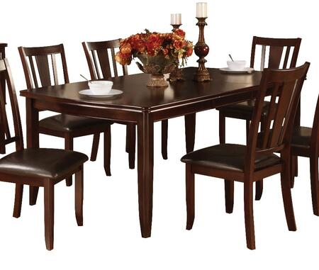 Furniture of America Edgewood I CM3336T Dining Room Table Brown, Without Chairs