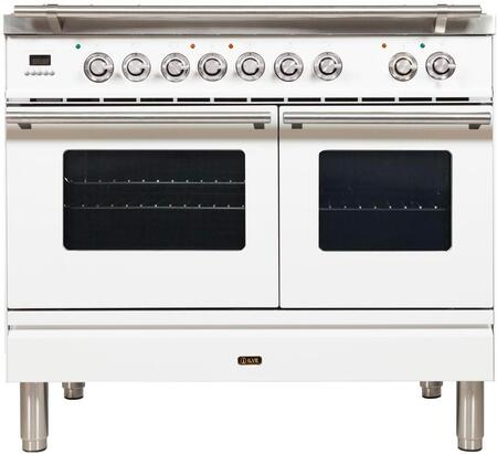 Ilve Professional Plus UPDW1006DMPB Freestanding Dual Fuel Range White, UPDW1006DMPB Professional Plus