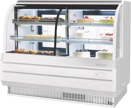 Turbo Air TCGB60COWN Display and Merchandising Refrigerator White, TCGB60COWN Angled View