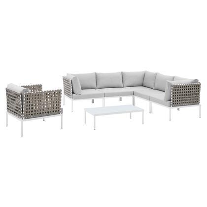 Modway Harmony EEI4935TANGRYSET Sectional Sofa Gray, EEI 4935 TAN GRY SET 1