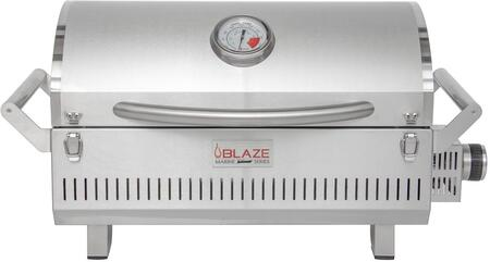 BLZ-1PRO-PRT-LP Marine Grade 316L Professional Portable Grill with Flame Thrower Ignition  Cast Stainless Steel H Burner  2 Front Facing Lock  in