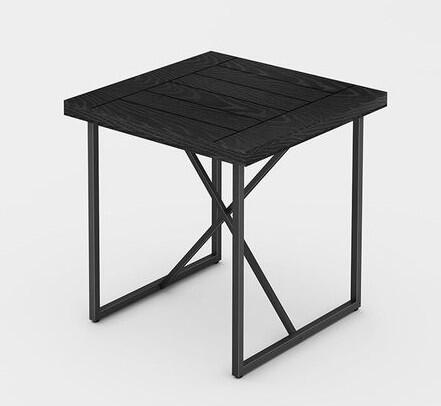 Signature Home Collection FT24IETEB X-End Table with Textured   Powder Coated Metal Frame  Thick MDF Top and Easy Assembly in