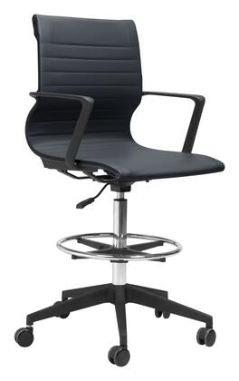 Zuo Stacy 102013 Office Chair Black, 102013 1