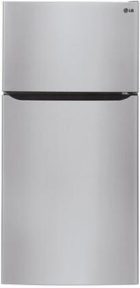 LG  LTCS24223S Top Freezer Refrigerator Stainless Steel, Main Image