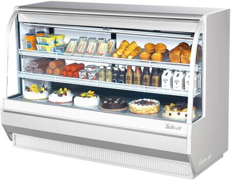 Turbo Air TCDD72HWN Display and Merchandising Refrigerator White, TCDD72HWN Angled View