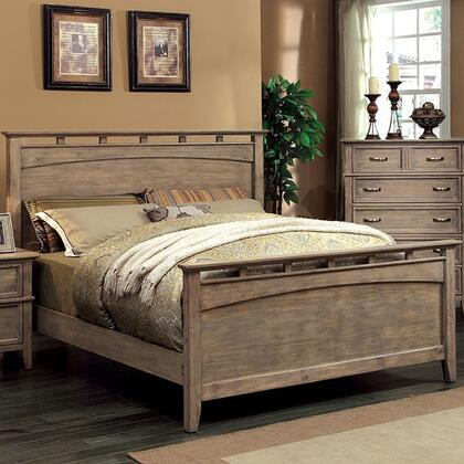 Furniture of America Loxley CM7351QBED Bed Brown, Main Image