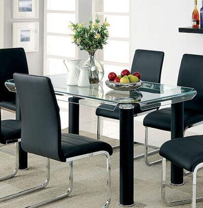 Furniture of America Walkerville I CM3361BKTTABLE Dining Room Table Black, main image