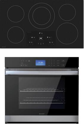 SHARP  992744 Kitchen Appliance Package Stainless Steel, main image