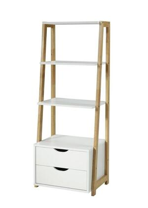 994352 Heidi Collection Bookcase  in White and Natural