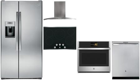 GE Profile 841646 Kitchen Appliance Package & Bundle Stainless Steel, main image
