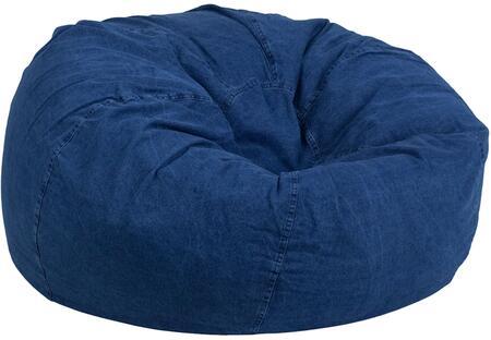 Flash Furniture DGBEAN DGBEANLARGEDENIMGG Bean Bag Chair Blue, DGBEANLARGEDENIMGG