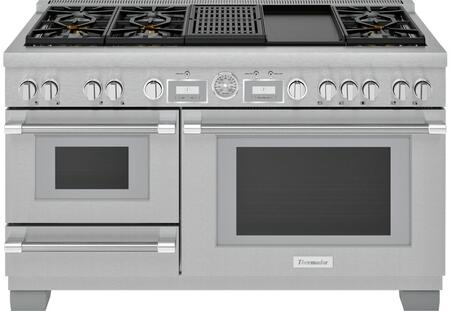 Thermador Pro Grand PRD606WCSG Freestanding Dual Fuel Range Stainless Steel, PRD606WCSG 60 Inch Commercial Depth Dual Fuel Steam Range