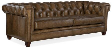 Hooker Furniture SS Series SS19503083 Stationary Sofa Brown, Silo Image